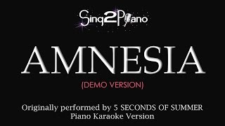Amnesia (Piano Karaoke Demo) 5 Seconds of Summer