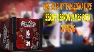 Nba 2k19 myteam signature series lebron james pack opening