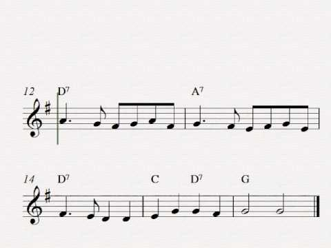 Ding Dong, Merrily On High - Free easy Christmas soprano recorder sheet music