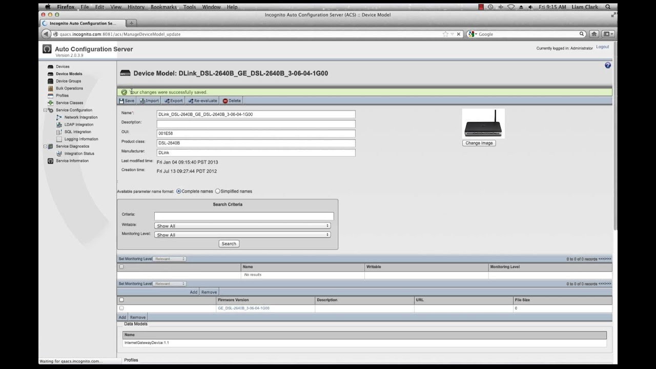 ACS TR-069 Interop Portal Walkthrough - Incognito Software