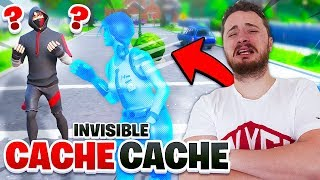 CACHE CACHE EN HACK INVISIBLE SUR FORTNITE !!