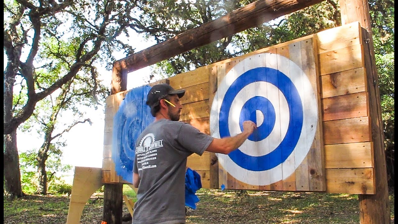 how to build an axe target
