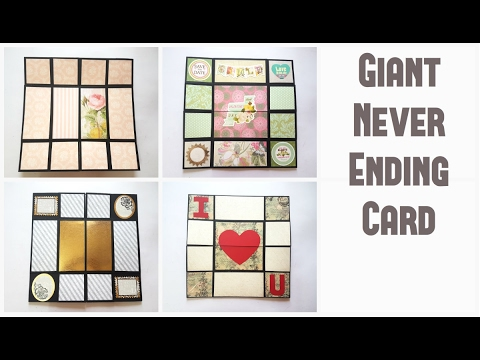 Giant Never Ending Card Tutorial by Srushti Patil Valentines – Giant Valentines Card