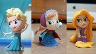 라푼젤 엘사 안나의 결전 모음 카일TV 디즈니 겨울왕국 장난감 애니메이션