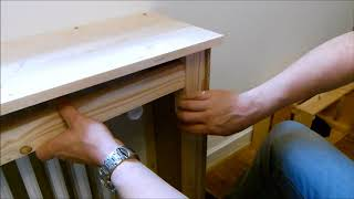 Fabrication d'un cache radiateur maison