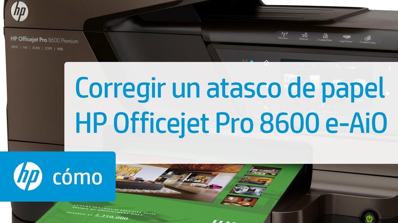 Corregir un atasco de papel - Impresora e-Todo-en-Uno HP