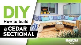 Build An Outdoor Cedar Sectional