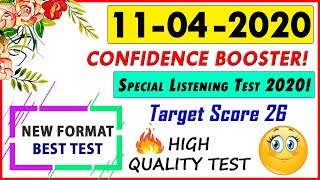 IELTS LISTENING PRACTICE TEST 2020 WITH ANSWERS | 11-04-2020