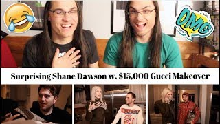 Surprising Shane Dawson w. $15,000 Gucci Makeover I Our Reaction // Twin World