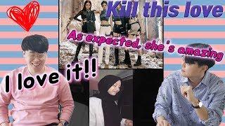 Black pink Kill this love cover by Sarah Suhairi(Korean reaction men / SGwannabe)