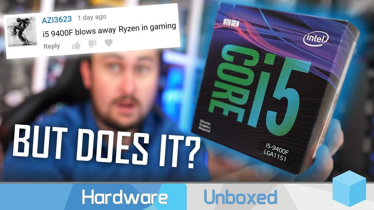 Intel Core i5 9400F vs  AMD Ryzen 5 2600X, Six-Core Sub-$200 Gaming Battle!