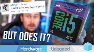 Intel Core i5 9400F vs. AMD Ryzen 5 2600X, Six-Core Sub-$200 Gaming Battle!