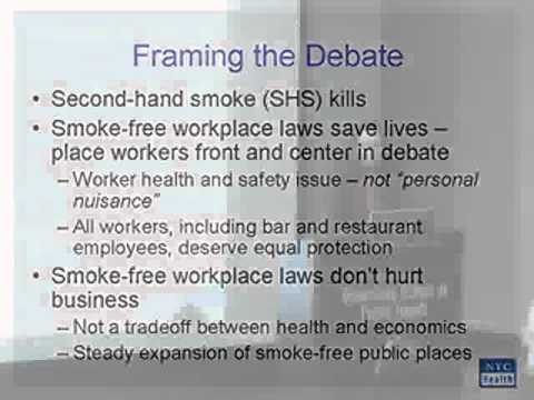 Tobacco Control, the NYC Experience -- lecture