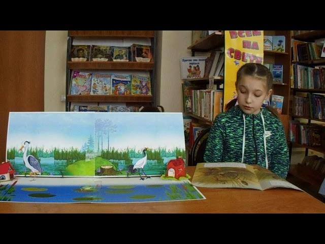 Изображение предпросмотра прочтения – ЕлизаветаМащинова читает произведение «Журавль и цапля» (Русский фольклор )