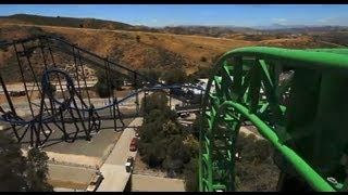 Green Lantern First Flight On-Ride POV Six Flags Magic Mountain SFMM Rider Cam 1080p HD