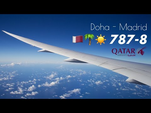 Qatar airways doha to madrid qr 149 flight for Oficina qatar airways madrid