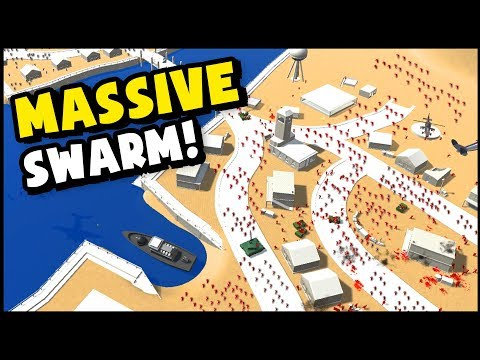 MASSIVE SWARM OF UNITS On River Crossing! (Ravenfield New Map Gameplay)