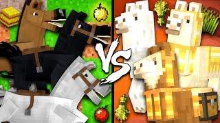 Horses vs. Llamas - Minecraft