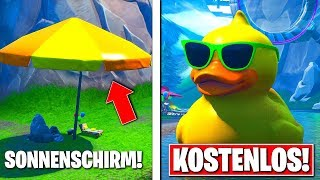 🎁Visit a STRANDSCHIRM & A GIANT ENTE in FORTNITE!! 🎁 Free ITEMS Fortnite!!