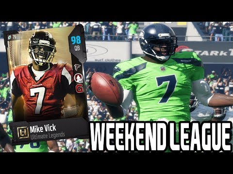 98 OVR MIKE VICK!! WEEKEND LEAGUE | MADDEN 18 ULTIMATE TEAM GAMEPLAY