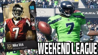 connectYoutube - 98 OVR MIKE VICK!! WEEKEND LEAGUE | MADDEN 18 ULTIMATE TEAM GAMEPLAY