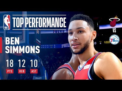 Ben Simmons Leads the 76ers' Big Comeback, Gets a Triple-Double | February 14, 2018