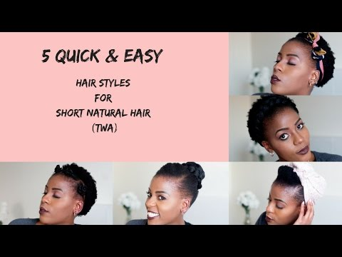5 Quick & Easy Hairstyles for Short Natural Hair | TWA | South African Natural Hair Blogger