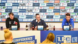 Pressekonferenz vor dem Spiel 1. FC Magdeburg gegen VfL Bochum