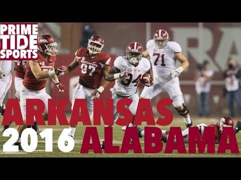#1 Alabama @ #16 Arkansas (Highlights 2016) (Prime Sports)