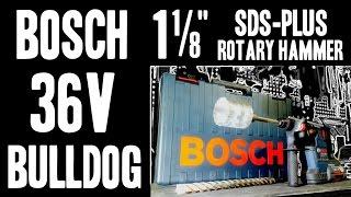 Video Bosch Bulldog RH328VC-36K 36V Cordless Lithium-Ion 1-1/8 in. SDS Plus Rotary Hammer download MP3, 3GP, MP4, WEBM, AVI, FLV November 2017