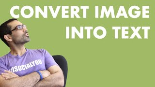 How To Convert Image To Text Using Google Docs (FREE OCR In Google Drive)