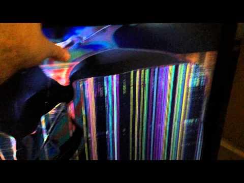 Broken LCD panel on Vizio TV. We recycle broken flat panel TVs.