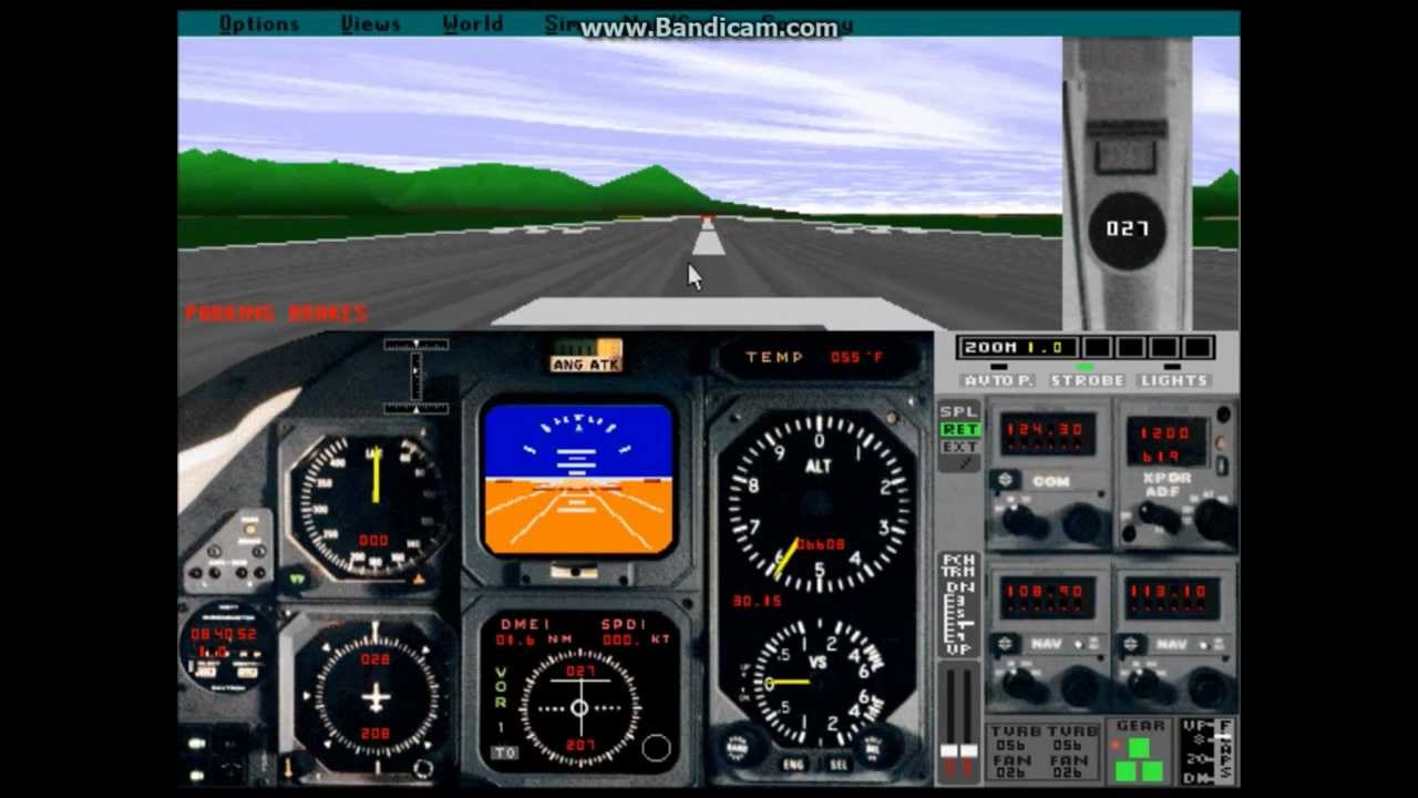 flight simulator 5 1 grand canyon dosbox and bandicam test youtube. Black Bedroom Furniture Sets. Home Design Ideas