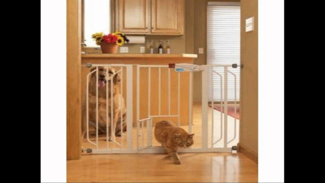 Carlson 0930pw Extra Wide Walk Thru Gate With Pet Door Youtube