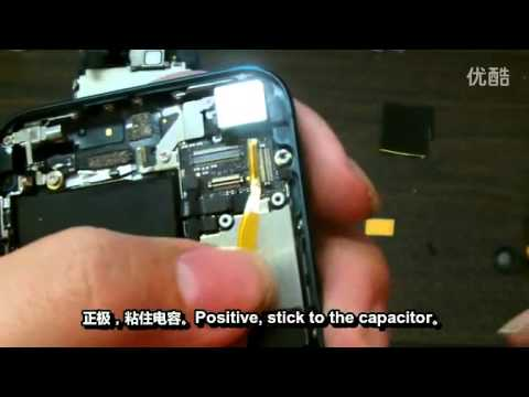 Iphone5 returns the key light kit. Home key. Modification steps!.mp4