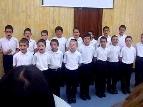 Hebrew School Choir Building Inaguration Day