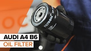 How to replace Engine Oil and Oil filter on AUDI A4 B6 TUTORIAL | AUTODOC