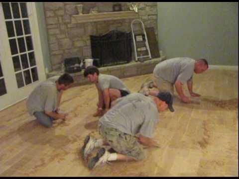 Hand Distressing Hardwood Floor Avi Youtube