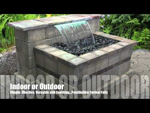 Retaining Wall Waterfall Examples Youtube