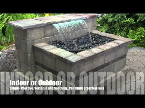 Retaining Wall Waterfall Examples Youtube