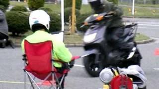 090426 Traction@三次 シグナスXでジムカーナ