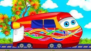 Мультик про паровозик.  Паровозик ТИШКА - учим цвета / развивающий мультик для детей