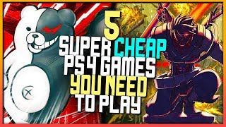 5 SUPER CHEAP PS4 Games YOU NEED To Play - UNDERRATED PS4 Games!