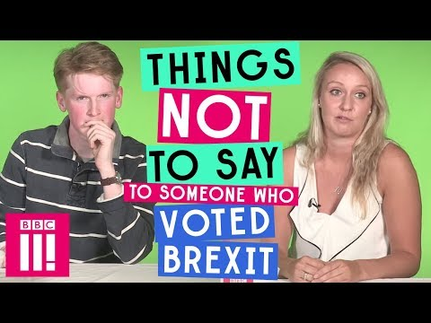 Things Not To Say To Someone Who Voted Brexit