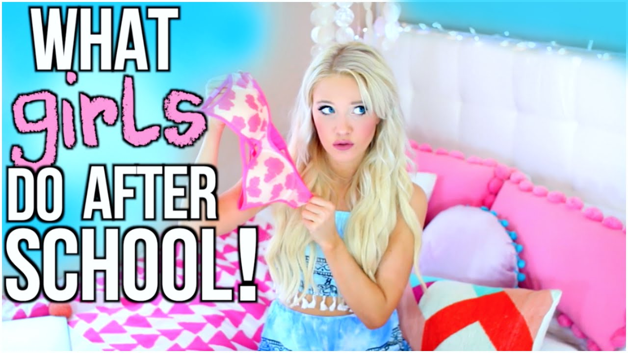 What Girls Do At Home Alone After School - YouTube
