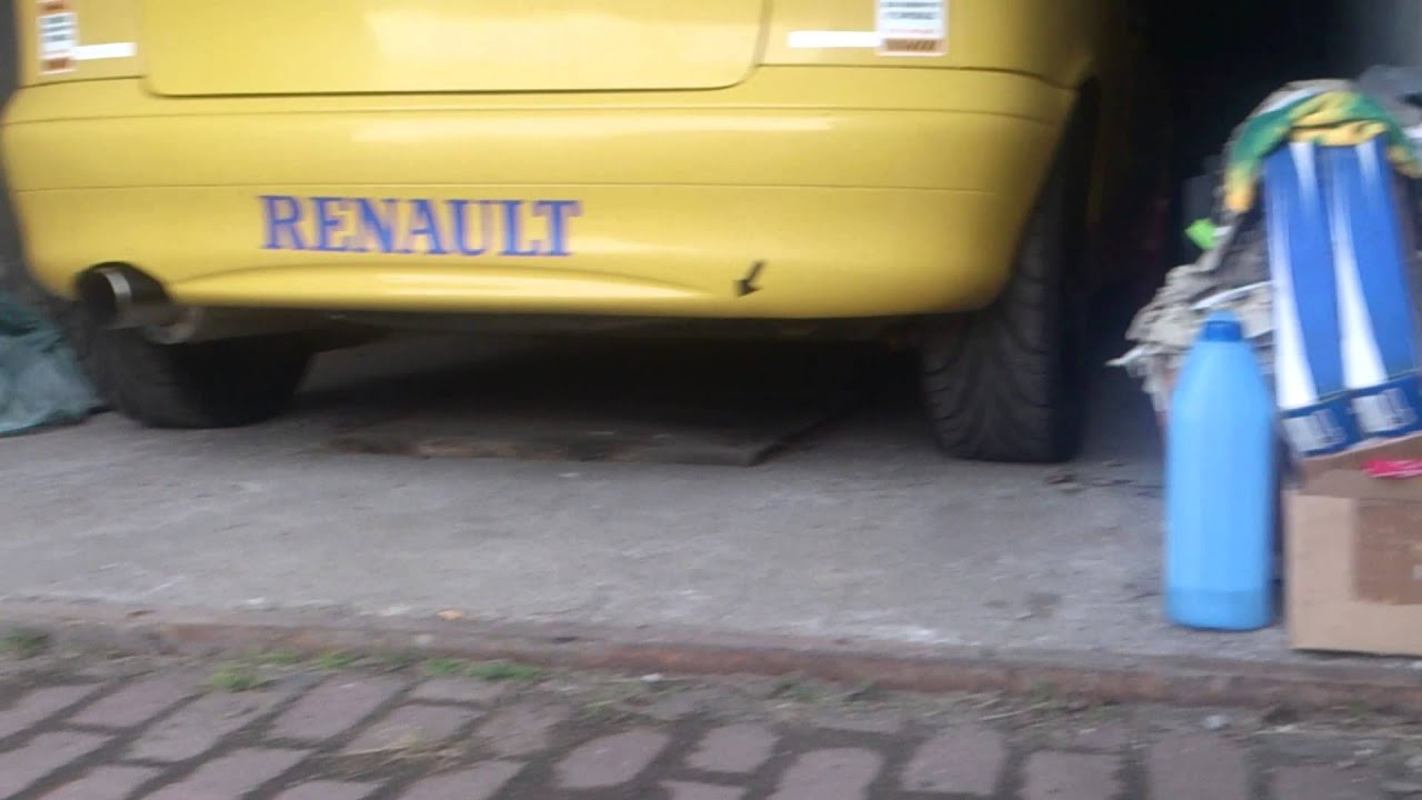 Renault Megane Coupe F4R exhaust sound