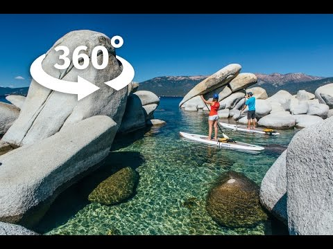 A 360 paddleboarding experience on Lake Tahoe, NV