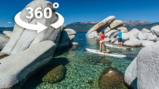 A 360 paddleboarding experience on Lake Tahoe, NV thumbnail