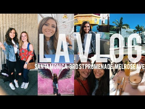 LA VLOG WITH MY BEST FRIEND | SANTA MONICA, 3RD ST PROMENADE, AND MELROSE AVE
