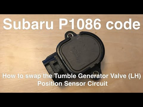 Subaru P1086 Error Code: How to swap the TGV position sensor in a 2004 Impreza